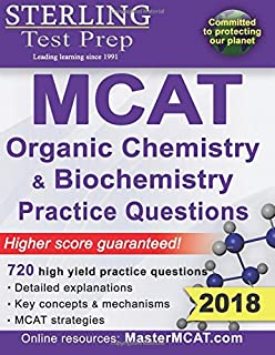 Kaplan mcat quick sheets kaplan 9781609786144 amazon books sterling test prep mcat organic chemistry biochemistry practice questions high yield mcat practice questions fandeluxe Image collections
