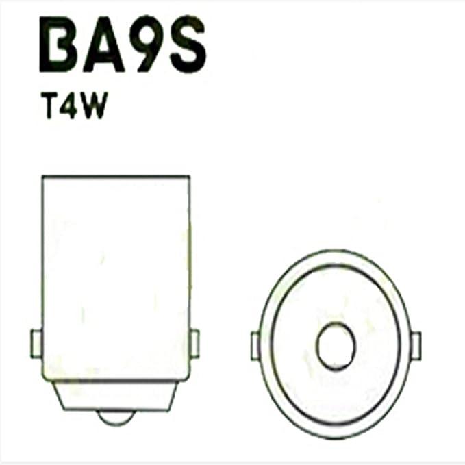 Warm white WeiXuan 4 PCS BA9S T4W 64111 64113 BA9 LED Car Interior Bulbs Map Reading Parking Light