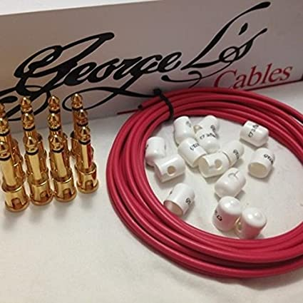 George L/'s GOLD RIGHT-ANGLE Plug /& WHITE STRESS JACKET for .155 Cable Kits