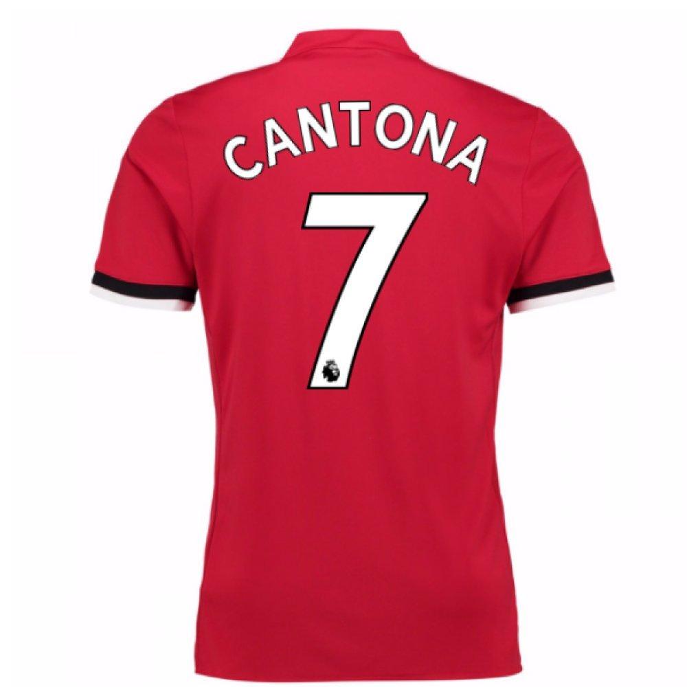 2017-2018 Man United Home Football Soccer T-Shirt Trikot (Eric Cantona 7) - Kids