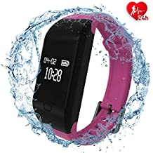 fitpolo Health Fitness Tracker HR - Heart Rate Monitor Wristband,IP67 Waterproof Smart Bracelet with Sleep Monitor, Step Counter, Calorie Counter, Pedometer for Kids Women Men