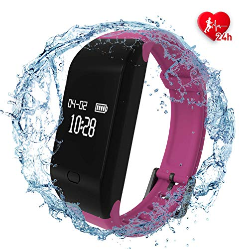 fitpolo Fitness Watch, Fitness Tracker, Activity Tracker with Heart Rate Monitor Waterproof Smart Wristband Sleep Monitor Step Counter Calorie Counter Pedometer for Women Men Kids Android iOS - Calorie Monitor Band