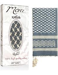 Premium Shemagh Scarf: Large 100% Cotton Arab Tactical Military Desert Head Neck Keffiyeh Wrap