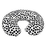 Nursing Pillow Slipcover Baby Gray Foxes Design Maternity Breastfeeding Newborn Infant Feeding Cushion Cover Case (Black)