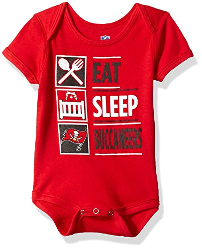 OuterStuff NFL Newborn All I Do Short Sleeve Onesie-Red-9 Months, Tampa Bay (Tampa Bay Buccaneers Infant Onesie)