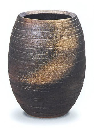 信楽焼陶器 傘立 金彩壷 金彩釉 D 高47cm MA311 B00DI335NA