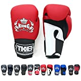 Top King Gloves Color Black White Red Blue Gold Size 8, 10, 12, 14, 16 oz Design Air, Empower, Superstar, and more for Training and Sparring Muay Thai, Boxing, Kickboxing, MMA (Air - White/Red/Black 10 oz)