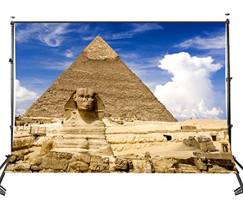 LYLY COUNTY 7×5ft Majestic Pyramids Backdrop Sphinx Egyptian Ancient Architecture Photography Background Studio Props Wall Background Room Mural LY039