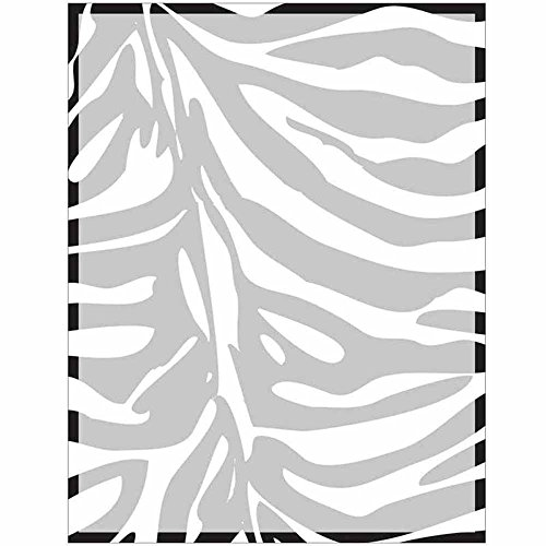 Full Zebra Print with Border Stationery Letter Paper - Wildlife Animal Theme Design - Gift - Business - Office - Party - School Supplies