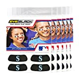 (24 Strips) Eye Black - Seattle Mariners MLB Eye Black Anti Glare Strips, Great for Fans & Athletes on Game Day