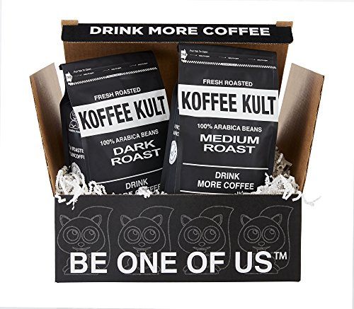 Koffee Kult Gift Box - Dark Roast and Medium Roast Whole Bean Coffee