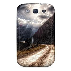 Quality MeSusges Case Cover With Hdr Mountain Road Nice Appearance Compatible With Galaxy S3