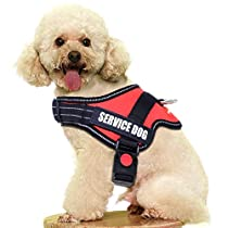 FAIRWIN Dog Vest Harness for Service Dogs, Comfortable Padded Dog Training Vest with Reflective Patches and Handle for Large Medium Small Dogs