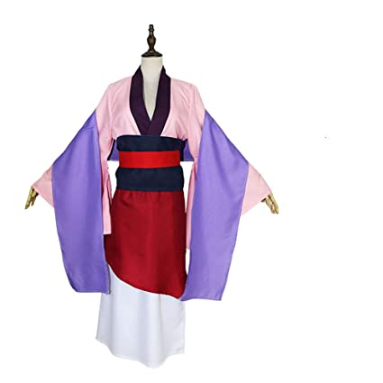 Qz Mulan Film Robe Hua Princesse Sur Rose Cosplay Costume 8wNnm0