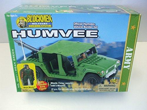 Blockmen Military Building System Army Humvee Set 3641 - Mean (Humvee Military Green)