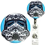 Candy Skull Star Wars Inspired Symbol Real Charming Premium Decorative ID Badge Holder (Stormtrooper Belt Clip HD)