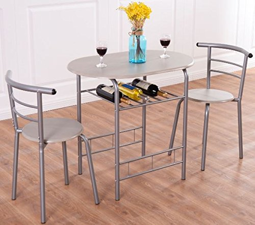 K&A Company Bistro Parlor Set Iron Twisted Ice Cream Table Chairs Vintage Piece Sweetheart Pictured Antique 3 pcs -
