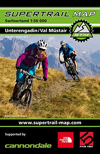 Supertrail Map Unterengadin / Val Müstair: Maßstab 1:50 000