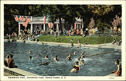 Riverside Park - Swimming Pool Grand Forks, North Dakota Original Vintage - Riverside North Park