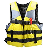 Adult Life Jacket with Whistle Lifejacket Aid Sea Sailing Boating Swimming Live Vest