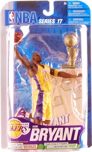 Kobe Bryant McFarlane NBA Series 17 Figure Variant With Trophy [Toy] by McFarlane