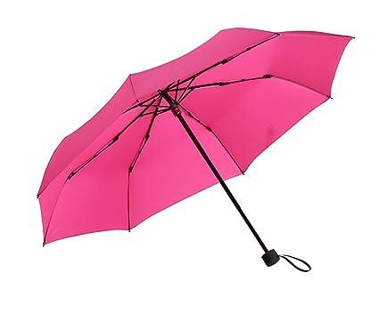 A Anti - Viento Paraguas Tres - Dobladillo Paraguas Masculino Y Femenino Paragolpes Dobladillo Parasol Creativo