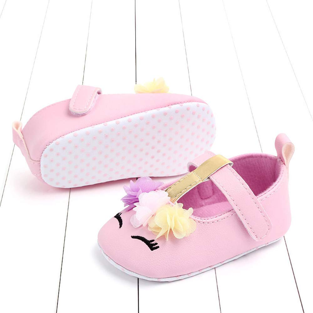 NUWFOR Cute Baby Girls Newborn Infant Cartoon Floral Casual First Walker Toddler Shoes(Pink,6-9Months) by NUWFOR (Image #3)