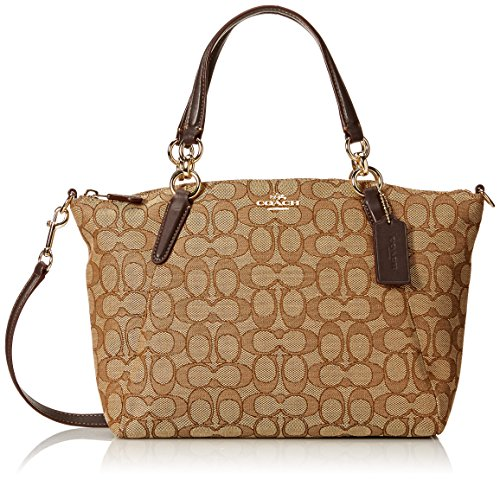 Coach Outline Signature Canvas Small Kelsey Handbag with Removable cross-Body strap