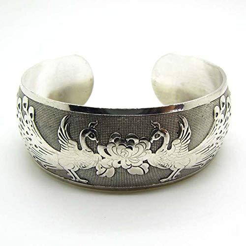 (Hot New Tibetan Tibet Silver Chinese Phoenix Totem Bangle Cuff Bracelet Yd)