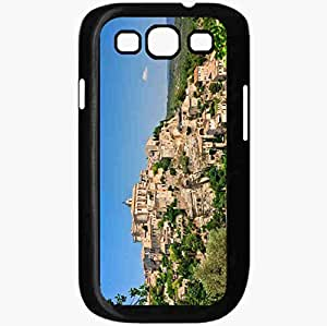Unique Design Fashion Protective Back Cover For Samsung Galaxy S3 Case Gordes France Proud France Building Panorama Black