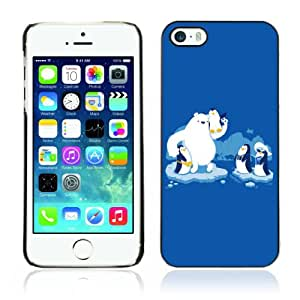 Designer Depo Hard Protection Case for Apple iPhone 5 5S / Friendly Penguins
