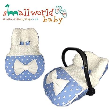 Saco de dormir para bebé con diseño de estrella y forro polar, personalizable, color azul: Amazon.es: Bebé