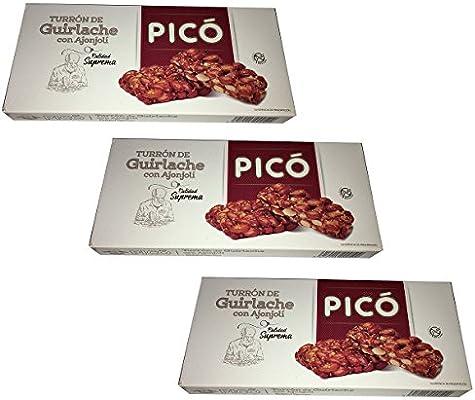 Picó - Pack incluye 3 Turron de Guirlache con Ajonjolí 200gr Calidad suprema: Amazon.es: Alimentación y bebidas