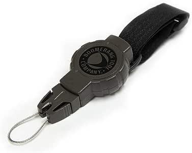"Boomerang Hunting Compass Retractable Gear Tether, Hook & Loop Strap, 24"" Retractble Cord, 4 oz. Retraction, Green Polycarbonate Case, Universal Attachment"