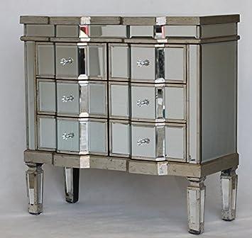 Venezianische Spiegel Antik Glas Kommode 6 Schubladen Schrank