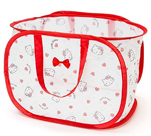 CJB Hello Kitty Foldable Pop Up Hamper Laundry Bag Horizontal Red -