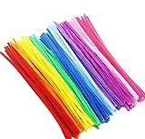 Culturemart 100pcs Bendaroos Chenille Sticks Craft Children Kid Pipe Cleaner Stems Craft Creative Fun Games Tail Bar Plush Sticks