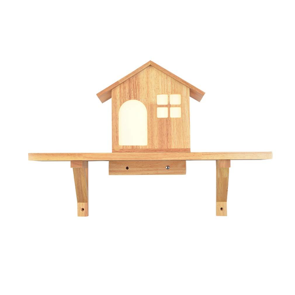 Moderne Wandleuchte Garten Dekoration Holz Schlafzimmer Nachttischlampe Led Kinderzimmer Beleuchtung Warmes Licht 9 Watt
