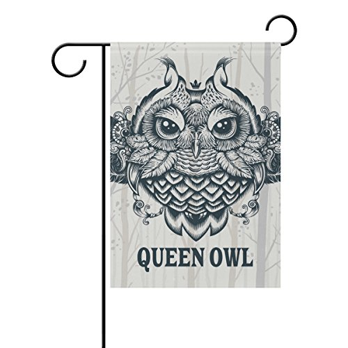 THENAHOME Decorative Flags for Outside Double Sided Welcome Garden Flag with Novelty Graphic Owl Trees Silhouette Pattern for Yard Flags Outdoor -