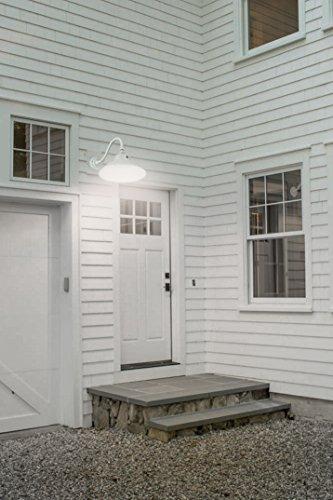 LEONLITE LED Gooseneck Barn Light, Photocell Included, Swivel Head Outdoor Wall Light, 42W (150W Equivalent), 5000K Daylight, 4000 Lumens, ETL & Energy Star Certified, 5 Years Warranty, White by LEONLITE (Image #2)