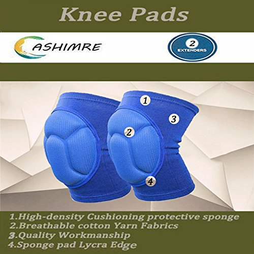 Sports Anti-Collision Sponge Knee Pads Dance Knee Pads Professional Volleyball Knee Pads Football Knee Pads (blue)