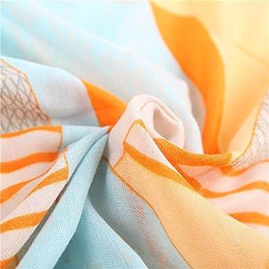 CCwenjing Lady Scarf Girl fresh out wind geometric stripe pattern Scarf Fashion sun cape cloak