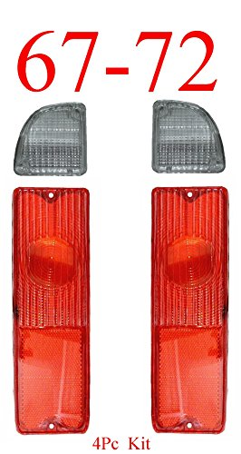 Trucks 1972 1967 Chevy (67-72 Chevy 4Pc Tail Light & Reverse Set)
