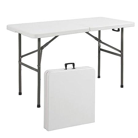 mesa plegable Puesto Exterior Portátil Mesa De Oficina Rectangular ...