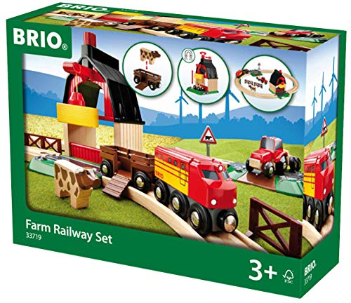 - Brio 33719 Farm Railway Set | Toy Train Set for Kids Age 3 and Up