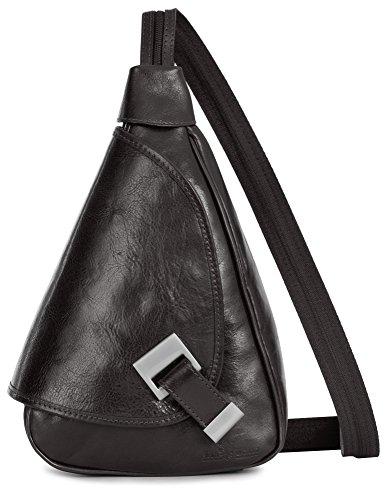ligero en italiana mujer 2en1 mochila bolso LiaTalia piel en convertible Pequeño hombro de 'Mila' para de Café auténtica y AqHw6wz