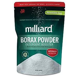 MILLIARD Borax Powder - Pure Multi-Purpose Cleaner 1 lb. Bag