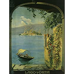 "Lago D'orta Is a Lake in Northern Italy West of Lake Maggiore Travel Italiana Italian 12"" X 16"" Image Size Poster Reproduction"