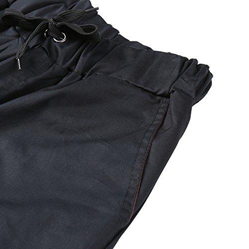 Étroite Poches Décontracté Serrage Homme De Sport Pour Merical Élastiques Pantalon À Noir Jambe Cordon Avec Ppcvn07