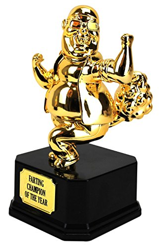 Four Seasons The Farting Champion of The World Trophy (Figure Gold Trophy)